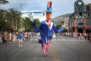 I hope this guy shows up to the parade again this year. (Copyright DAVID BERGELAND/Durango Herald)