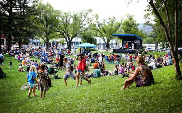 Rockin' out in Buckley Park. (Photo: JERRY McBRIDE/Durango Herald)