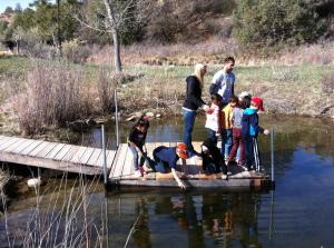 Kids love the center's new floating dock.