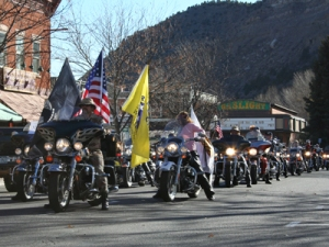 Bikes on parade during the Four Corners Motorcycle Rally. (Photo: Durango Harley-Davidson)