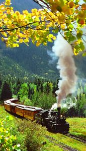 Durango & Silverton train + fall colors = Purty.
