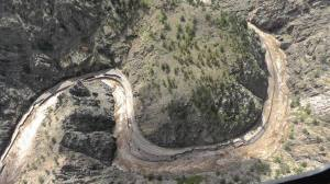 Flooding in the Big Thompson Canyon washed out Highway 34 between Loveland and Estes Park. (Photo by Larimer County Sheriff Justin Smith.)