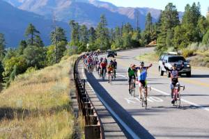 Cyclists tackling the Durango Fall Blaze Bicycle Tour. (Photo: Durango Fall Blaze Bicycle Tour and Celebration.)