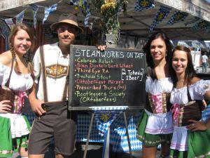 Beer tastes better when wearing lederhosen. (Photo: Durango Oktoberfest.)