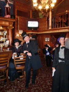 Dressed to the nines in Victorian costumes at the Strater Hotel during the Durango Heritage Celebration. (Photo courtesy of Durango Heritage Celebration.)