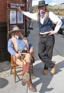 Cowboys hanging outside the Diamond Belle Saloon. (Photo courtesy of Durango Heritage Celebration.)
