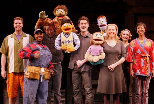 The cast of Avenue Q. Photo by: Carol Rosegg
