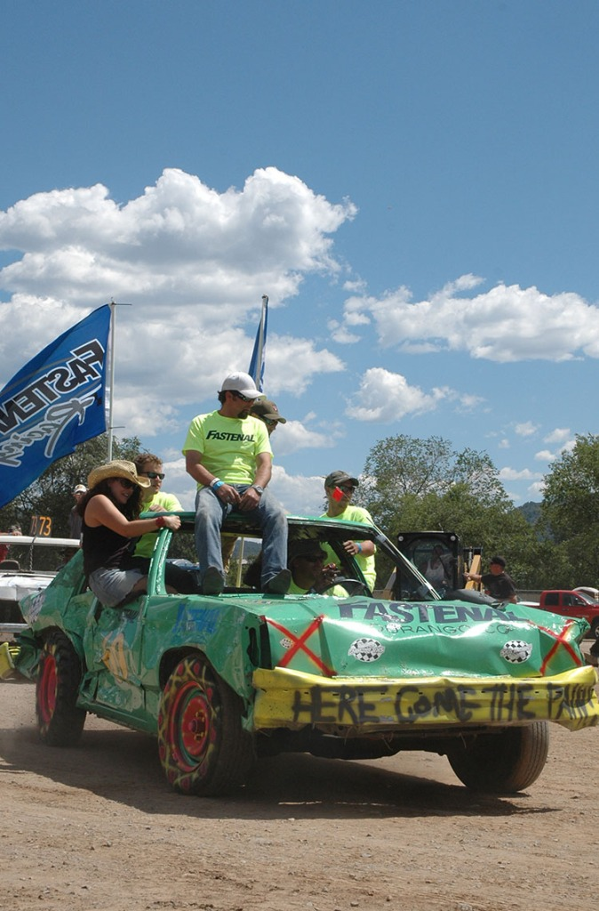 La Plata County Fair_demo_derby in Durango