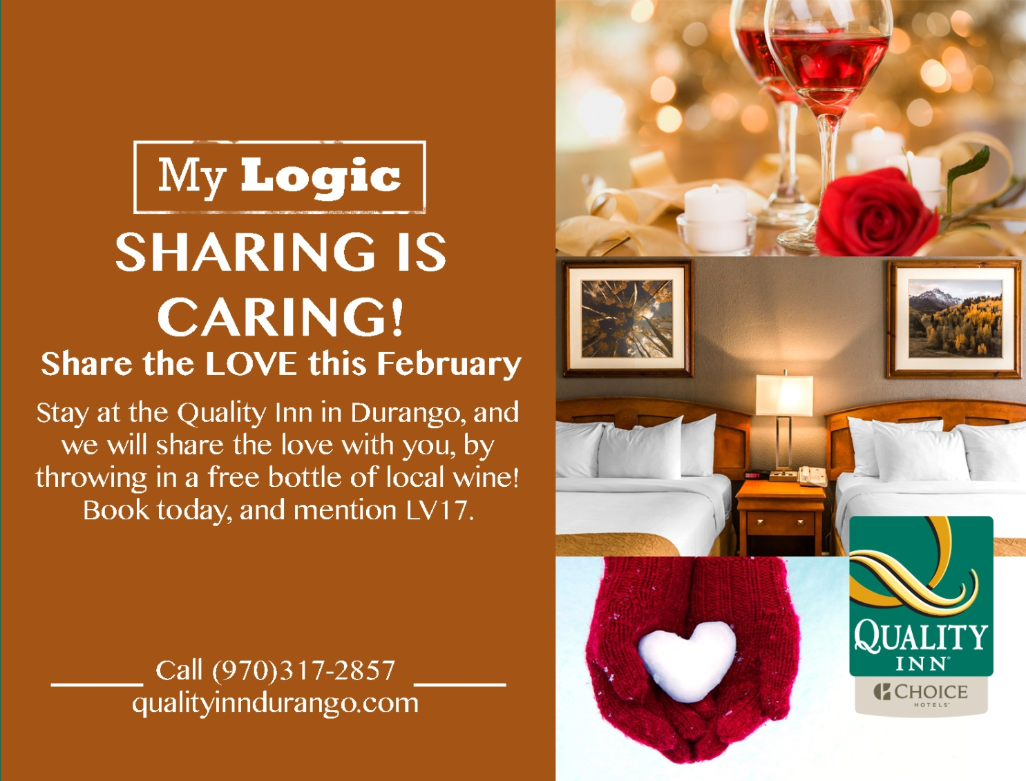 Free wine for February stays at the Quality Inn Durango