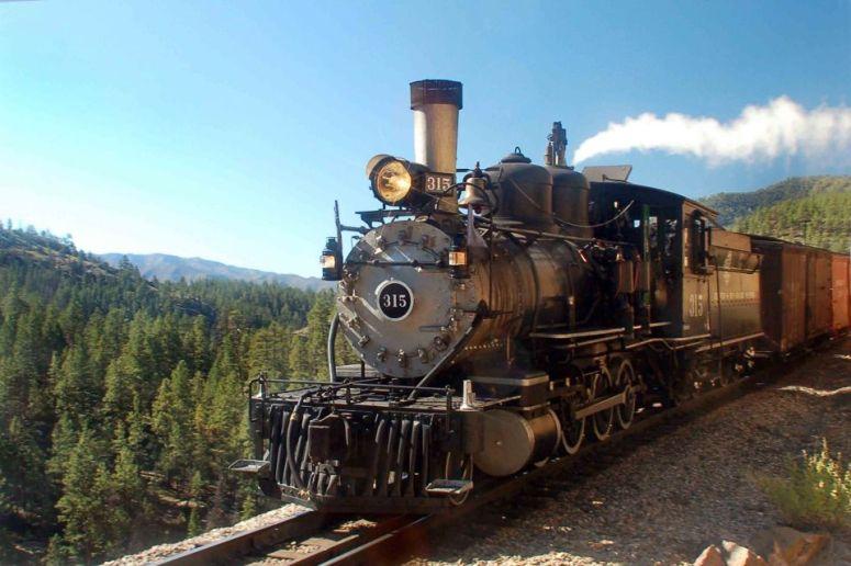 Durango train Locomotive 315 highline